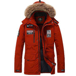 Men Parkas 80% White Duck Down  Thick Warm  Fur Hooded Collar M-3XL
