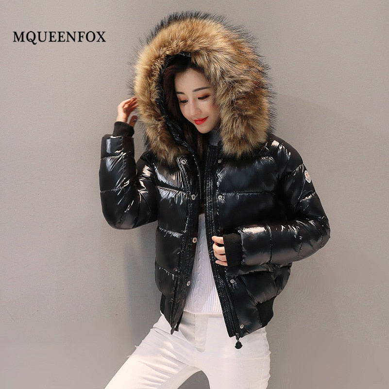 2019 short bright down jacket Warm padded thick ladies parka
