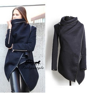 2017 Women Trench Coat Casual Long Sleeve S-4XL