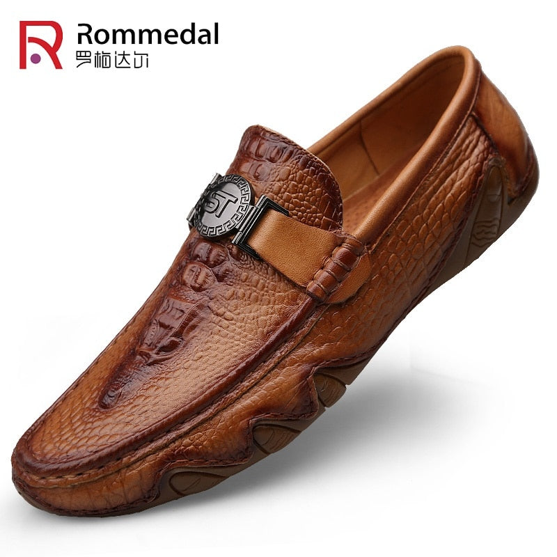 crocodile skin loafer shoes men luxury leisure