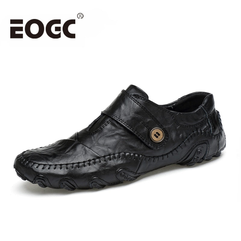 Fashion British Style Men Causal Shoes Genuine Leather Men Shoes Four S Outdoor Flats Shoes male Winter shoes size 38-46