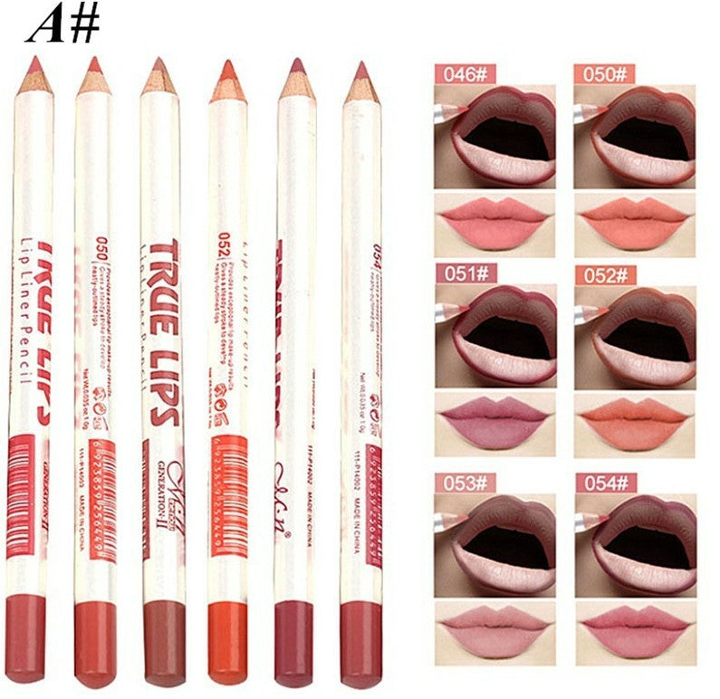 1/6/12pcs Waterproof Maquiagem Matte Lip Liner Make Up Lippenstift Lip Liner Batom Mate Korean Lipstick for Lips Pen Makeup Set