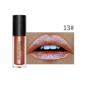 Metallic Glitter Liquid Waterproof Matte Lip gloss
