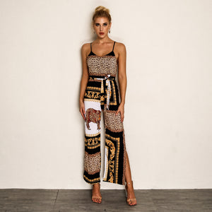 Joyfunear  Leopard Long Jumpsuits