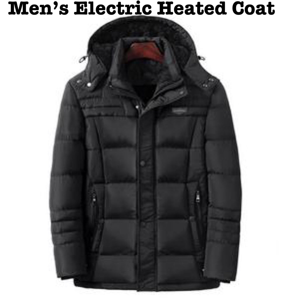 Men's Electric Heated Winter Coat  Smart USB Charging