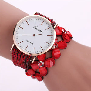 Geneva Creative Watches Women Casual Elegant Quartz Bracelet ladies Watch Crystal Diamond Wrist Watch Gift