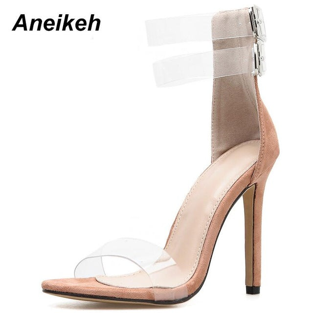 2019 Women's High Heels  Open Toe Ankle Strap Gladiator Stiletto