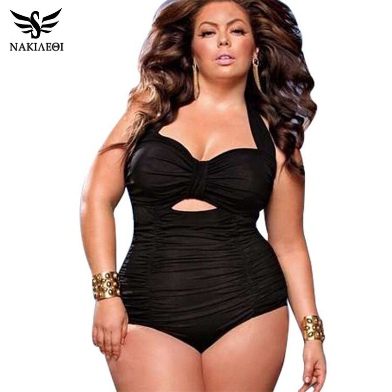 New Plus Size  Women's One Piece Swimsuit  Large Size