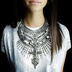 Big Statement Metal Choker Vintage Maxi Necklace