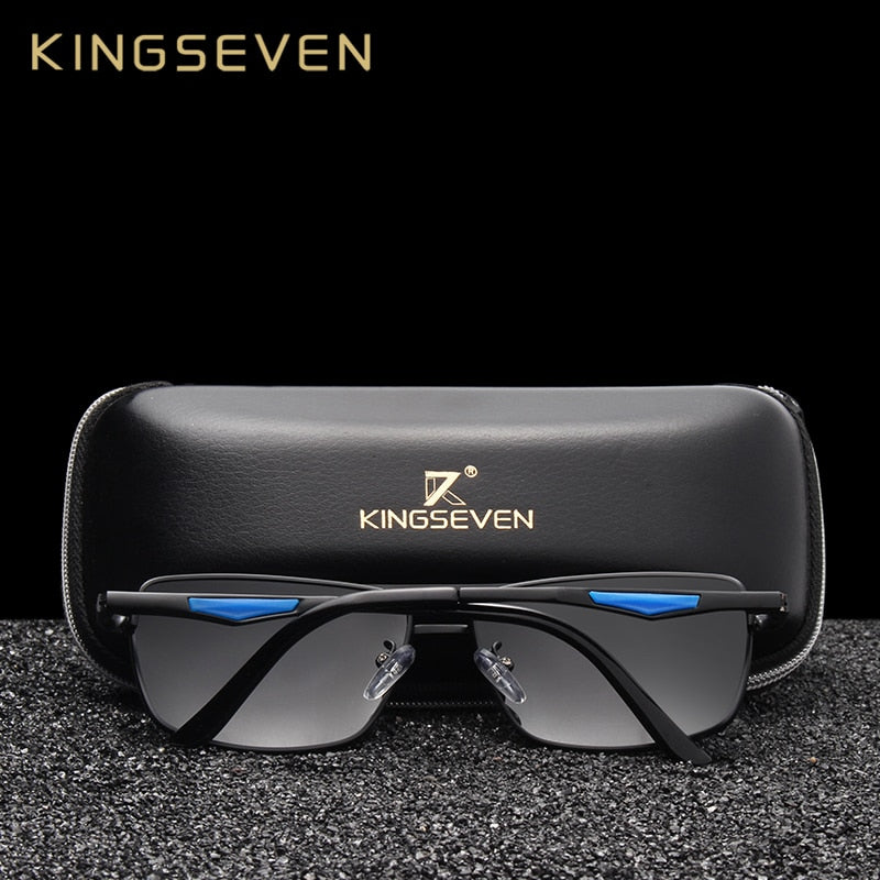 KINGSEVEN Brand Classic Square  Polarized Men Sunglasses