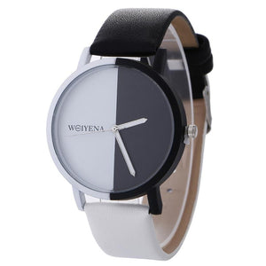 Neutral Black And White Pattern Watches Fashion Women watch female Ladies Leather Band Quartz Wrist Watch Relogio Femininos 2018
