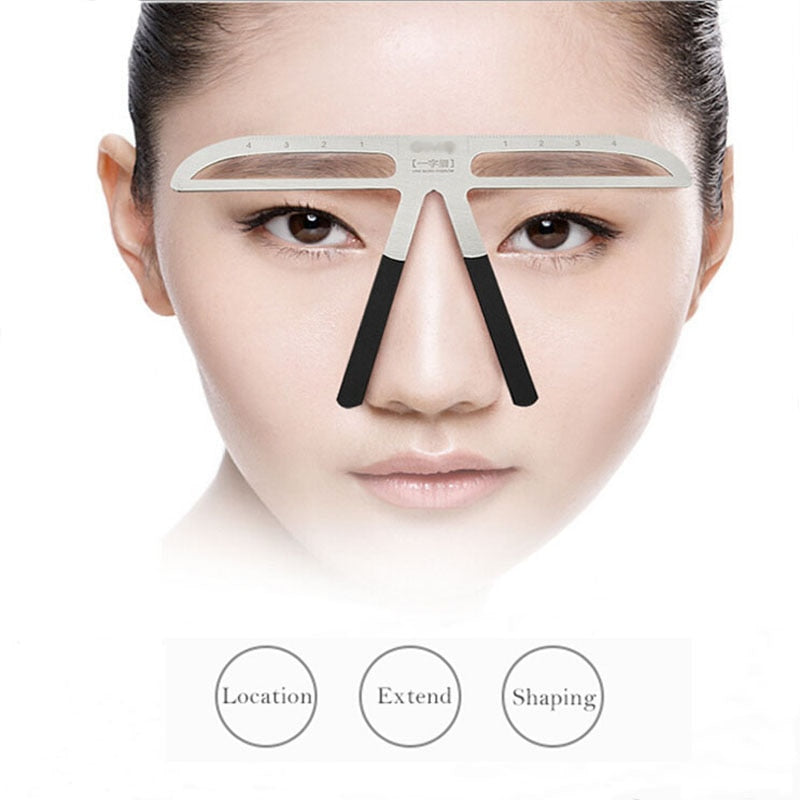 1 Pc Eyebrow Stencils Shaping Grooming Eye Brow Make Up Model Template Reusable Design Eyebrows Styling Tool
