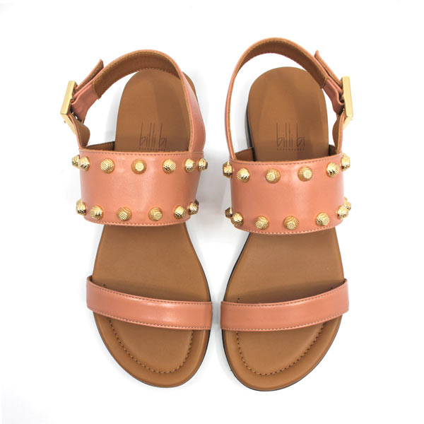 4011 Soft Rose | Flat leather sandal