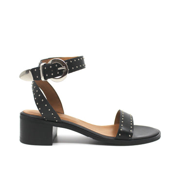4181 | Mid heel leather studded sandal