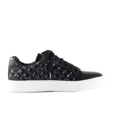 4848 Black | Leather sneaker