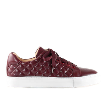 4848 Burgundy | Leather sneaker