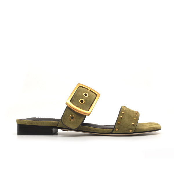 Perseus | Flat suede slides
