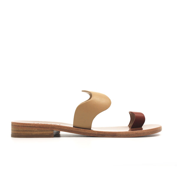Goa Tan | Leather toe loop slide