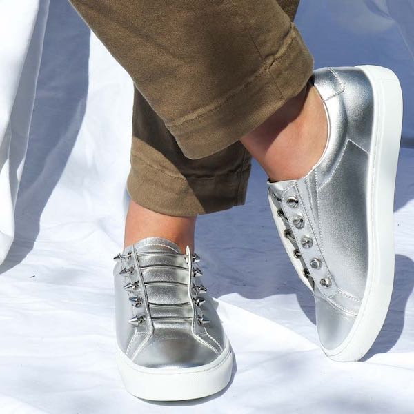 Joe Silver | Metallic leather sneaker