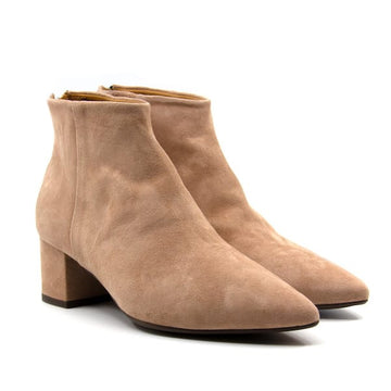 6600 Old Rose | Low heel suede boot