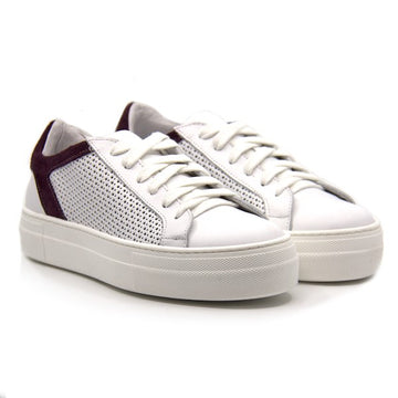 Angie Grape | White platform sneakers