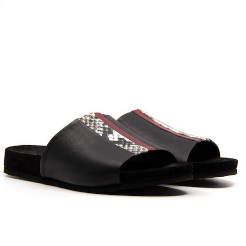 Ipanema Speed Slider Black | Leather platform slide