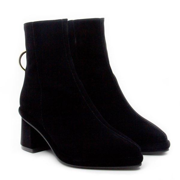 Reike Nen Ring Boot Black Velvet