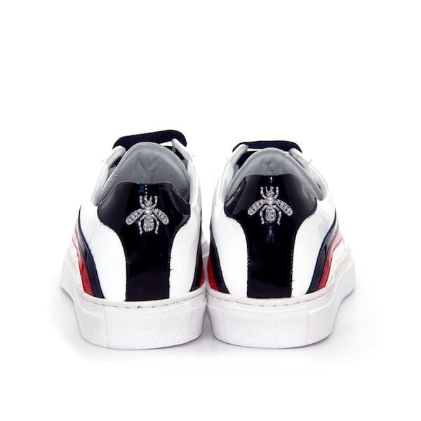 64825 | White patent leather sneaker