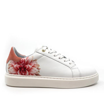 Fox Poppy Coral | Leather Sneakers