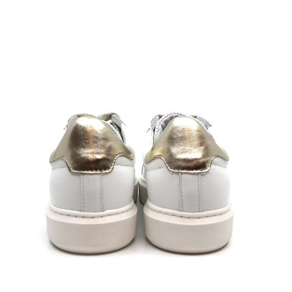 Fox Poppy Gold | Leather sneakers