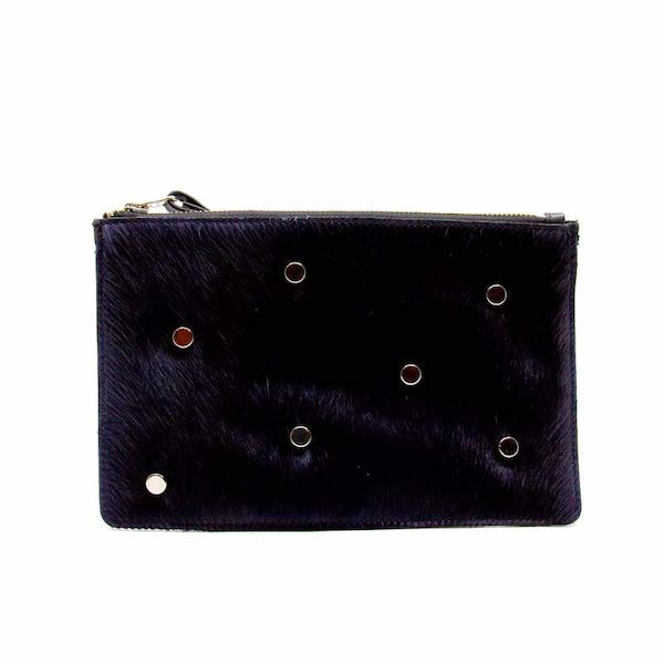 Plato Navy | Small cowhide clutch purse