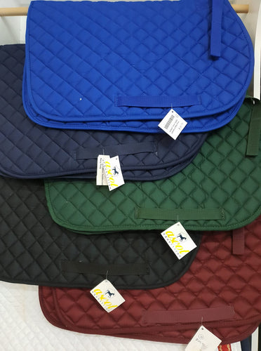 cotton quilted saddleblanket