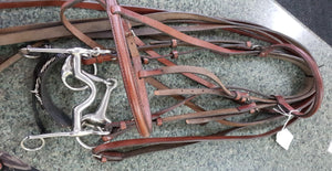 double bridle and bits set