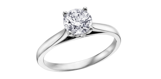 Bijouterie-Clermont-Labrecque-Bague-diamants-solitaire-or-10K-blanc