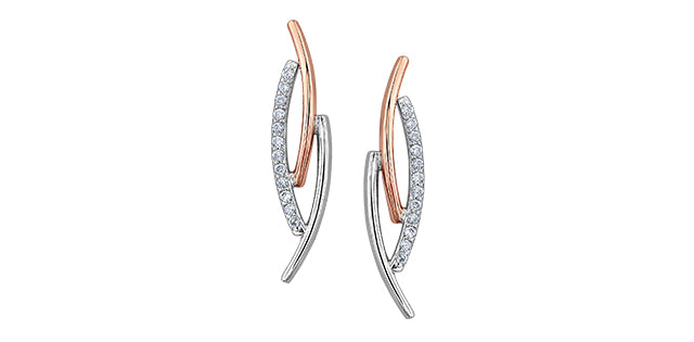 bijouterie-clermont-labrecque-Boucles-oreilles-diamants-or-10K-rose-blanc-dd2804