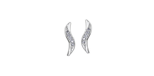 bijouterie-clermont-labrecque-Boucles -oreilles-vague-diamants-or-10k-blanc-dd2923