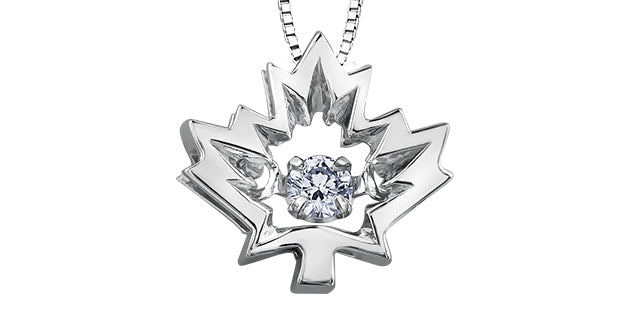 bijouterie-clermont-labrecque-Pendentif-feuille-erable-diamants-flottant-or-10k-blanc-am289w
