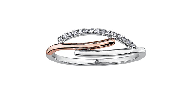 Bijouterie Clermont Labrecque Bague à diamants or 10K blanc et rose