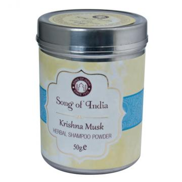 Herbal Shampoo Powder Krishna Musk 50g - Moonstone Felt And Crystals