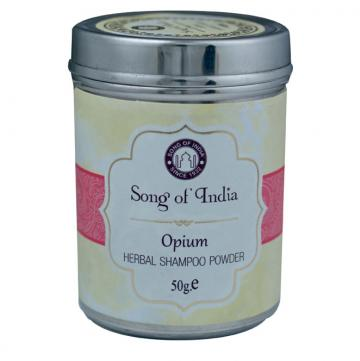 Herbal Shampoo Powder Opium Flower 50g - Moonstone Felt And Crystals