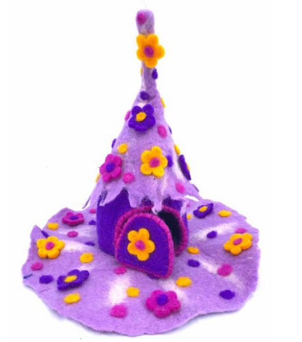 Felt Fairy House - Wonder Home - Moonstone Felt And Crystals