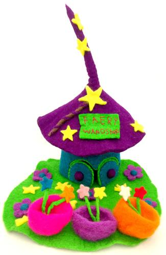 Felt Fairy House - Wand Shop - Moonstone Felt And Crystals
