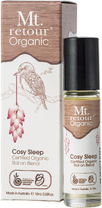 Mt Retour 100% Organic Essential oil Roll on - Cosy Sleep Blend - Moonstone Felt And Crystals