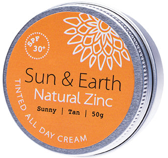 Sun and Earth tinted all day cream SPF 30+ Sunny Medium - Moonstone Felt And Crystals