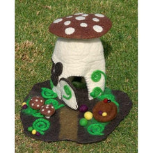Load image into Gallery viewer, Felt Fairy House - Woodland fairy house - Moonstone Felt And Crystals