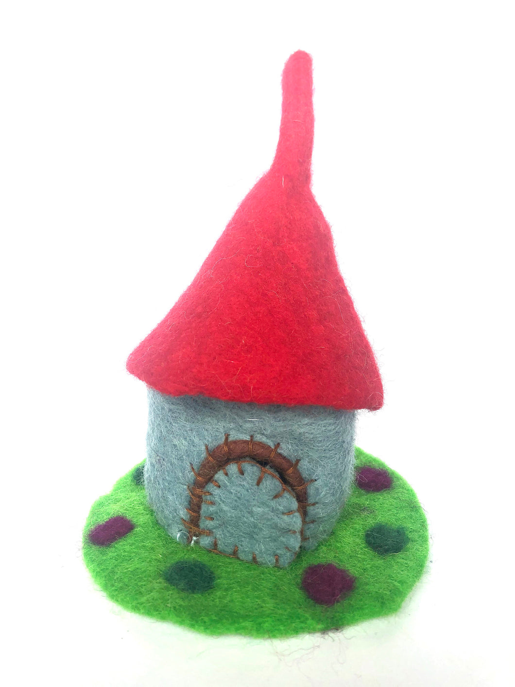 Felt Fairy House - Dragon Castle- Tiny home - Moonstone Felt And Crystals