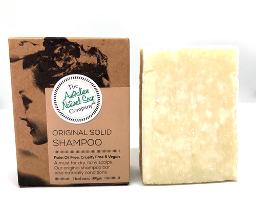 Solid Shampoo Bar - Original/Normal - The Australian Natural Soap Company - Moonstone Felt And Crystals