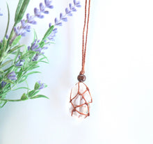 Load image into Gallery viewer, Clear Quartz Macrame Necklace - Moonstone Felt And Crystals