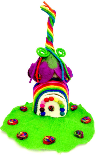 Felt Fairy House | Rainbow Fairy House - Moonstone Felt And Crystals