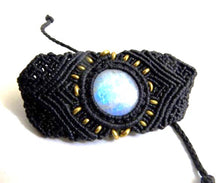 Load image into Gallery viewer, Moonstone Macrame Bracelet - Moonstone Felt And Crystals